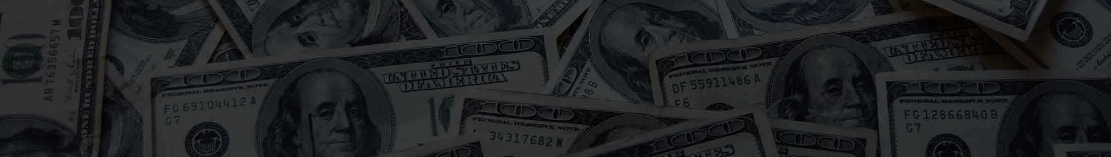 Dollar bill background for the Debt Recovery page at Capital Financial