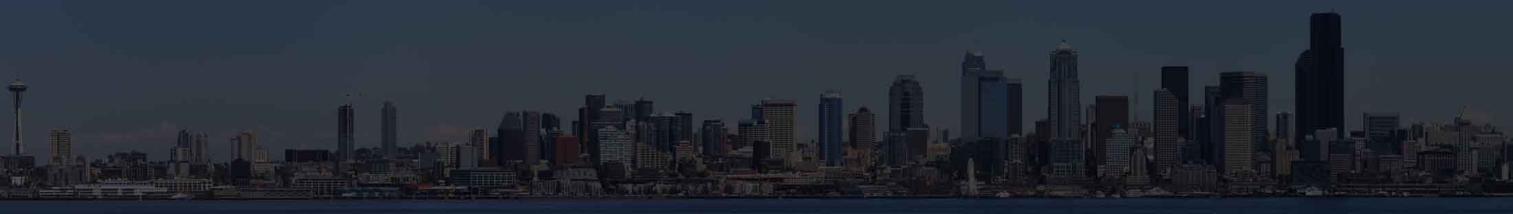About Capital Financial header background, Seattle skyline